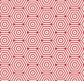 Rode patroon geometrische vectorachtergrond Stock Afbeelding