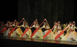 Rode peddel - De derde handeling van de gebeurtenissen van dans drama-Shawan van het verleden royalty-vrije stock foto