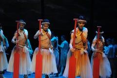 Rode peddel - De derde handeling van de gebeurtenissen van dans drama-Shawan van het verleden royalty-vrije stock afbeelding