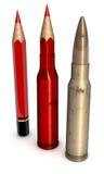 Rode Pen Bullet Stock Foto