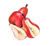 Rode peren Stock Afbeeldingen