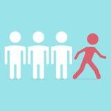 Rode persoon die uit lopen Stock Illustratie
