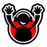 Rode pictogrammuziek Royalty-vrije Stock Afbeelding