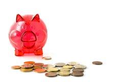 Rode piggy-bank stock afbeelding
