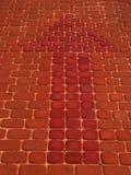 Rode pijl Stock Foto