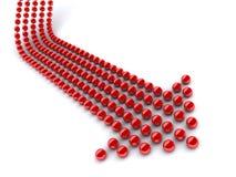 Rode pijl Royalty-vrije Stock Afbeeldingen