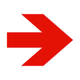Rode pijl op witte achtergrond Royalty-vrije Stock Afbeeldingen
