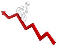 Rode pijl - Succes Royalty-vrije Stock Foto