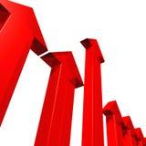 Rode pijlen vector illustratie