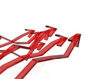 Rode pijlen Royalty-vrije Stock Afbeeldingen