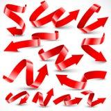 Rode pijlen Royalty-vrije Stock Foto's