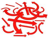 Rode pijlen Royalty-vrije Stock Fotografie