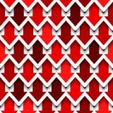 Rode Pijlen Naadloze achtergrond Royalty-vrije Stock Afbeeldingen