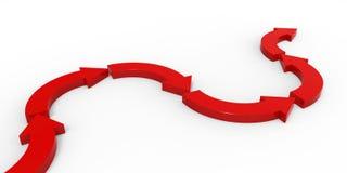 Rode pijlen op witte achtergrond Royalty-vrije Stock Foto's