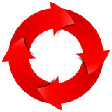Rode pijlencirkel Royalty-vrije Stock Foto