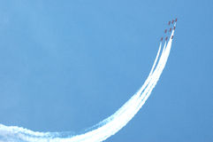 Rode pijlenkunstvliegen Stock Foto
