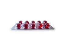 Rode pil in pak royalty-vrije stock afbeelding
