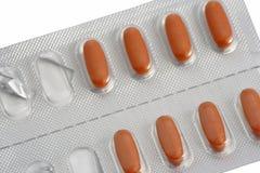 Rode pillen Royalty-vrije Stock Afbeelding