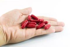 Rode Pillen Stock Afbeelding