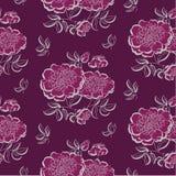 Rode pioen bloemenschets De vector van de de lentebloem Stock Foto's