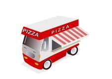 Rode Pizzavrachtwagen Royalty-vrije Stock Foto's