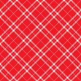 Rode Plaid Royalty-vrije Stock Foto