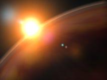 Rode planeet stock illustratie