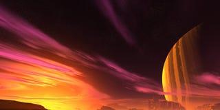 Rode planeet Stock Foto's