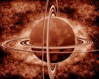 Rode planeet - fantasieruimte Royalty-vrije Stock Foto's