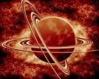 Rode planeet - fantasieruimte Stock Fotografie