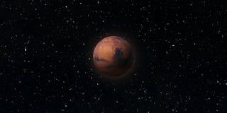 Rode Planeet Mars Astronomie en wetenschapsconcept Elementen van dit die beeld door NASA wordt geleverd royalty-vrije stock fotografie