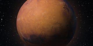 Rode Planeet Mars Astronomie en wetenschapsconcept Elementen van dit die beeld door NASA wordt geleverd stock illustratie