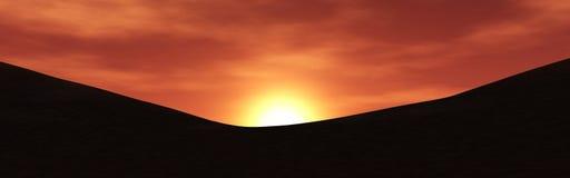 Rode planeet, panoramisch landschap van Mars Royalty-vrije Stock Foto