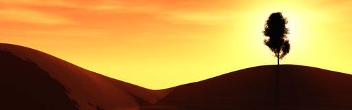 Rode planeet, panoramisch landschap van Mars Royalty-vrije Stock Foto's