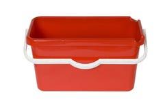 Rode plastic emmer Royalty-vrije Stock Afbeelding