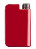 Rode plastic jerrycan Stock Afbeelding