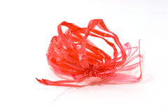 Rode plastic kabel Royalty-vrije Stock Foto's