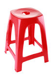 Rode plastic stoel Stock Afbeelding