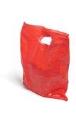 Rode Plastic Zak Stock Afbeeldingen