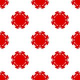 Rode Pook Chip Icon Seamless Pattern royalty-vrije illustratie