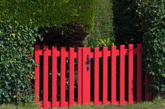 Rode poort royalty-vrije stock foto