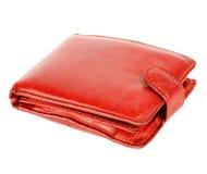 Rode portefeuille Stock Afbeeldingen
