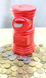 Rode pos bureaubuis Royalty-vrije Stock Fotografie