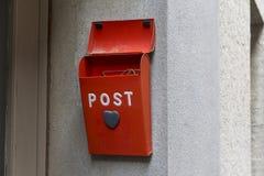 Rode postdoos Royalty-vrije Stock Fotografie