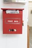Rode postdoos Royalty-vrije Stock Foto