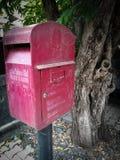 Rode postdoos Royalty-vrije Stock Afbeelding