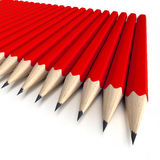 Rode potloden Stock Foto