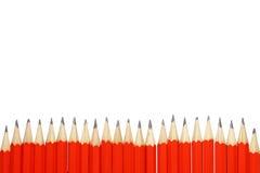 Rode potloden Royalty-vrije Stock Fotografie