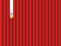 Rode potlodenrij Stock Afbeelding