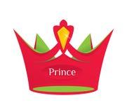 Rode prinskroon Royalty-vrije Stock Foto